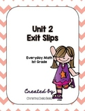 First Grade Everyday Math Unit 2 Exit Slips