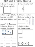 First Grade Everyday Math Unit 8 Part A Review Sheets