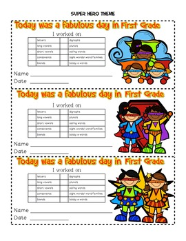 First Grade Exit Reward Tickets~ A Compliment to the GR Lesson Plan Book