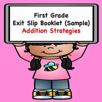 Math Exit Slips  (Addition Strategies Sample)