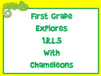 First Grade  Explores  1.R.L.5 with Chameleons