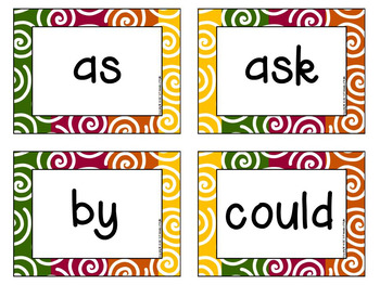 First Grade FALL Dolch Sight Word Notebook