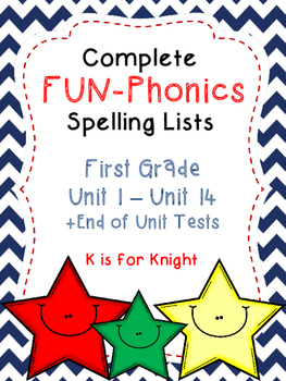 First Grade FUN-Phonics Spelling List