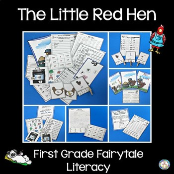 First Grade Fairy Tales Literacy Unit - The Little Red Hen