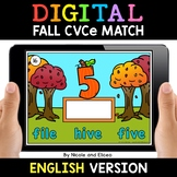 Fall Digital CVCe Word Work for Google Classroom 2 - Dista