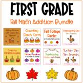 First Grade Fall Math Addition Bundle