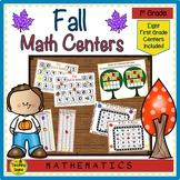 First Grade Fall Math Center Games
