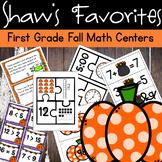 First Grade Fall Math Centers
