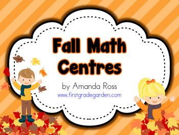 First Grade Fall Math Centres