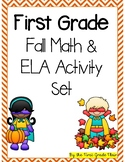 First Grade Fall/Autumn Math and ELA Activity Set *50 pages*