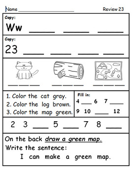 First Grade Fall Review