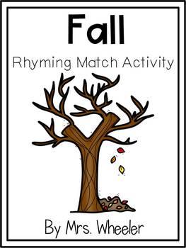 First Grade Fall Rhyming Match