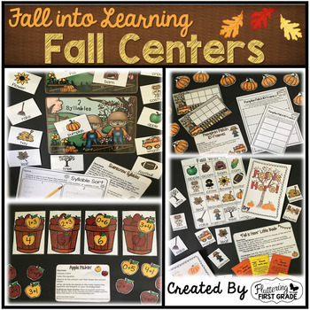 Centers Through the Seasons Math and Literacy BUNDLE