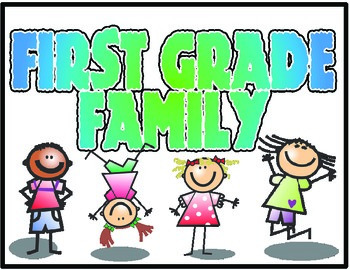 First Grade Family Sign *FREEBIE*