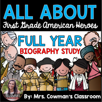 First Grade Famous Americans Biography Study- Differentiated for the Full Year