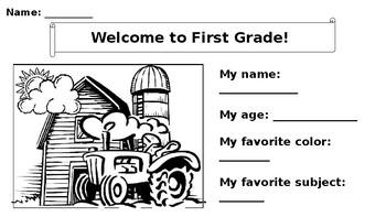 First Grade Farm