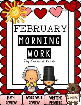 First Grade February Morning Work Pack