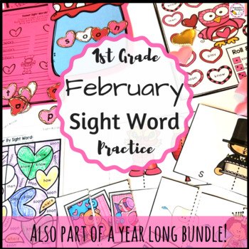 First Grade February Sight Word Activities