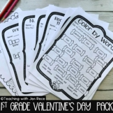 Valentine's Day Math + ELA Packet (25 Pages, NO PREP!)