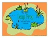 First Grade File Folder Leap Frog Game- Dolch Words
