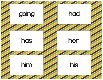 First Grade Flashcards/Game
