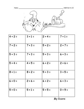First Grade Fluency Practice: 16 pages Addition and Subtraction