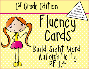 First Grade Sight Word Fluency RF.1.4