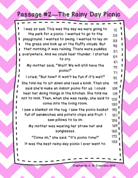 First Grade Fluency and Comprehension Passages Set A (Passages 1-10) DORF