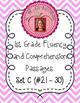 First Grade Fluency and Comprehension Passages Set C (Passages 21-30) DORF