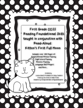KITTEN'S FIRST FULL MOON Fluency Pack by Ms. Lendahand:)
