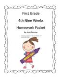 First Grade Fourth Nine Weeks Homework Packet