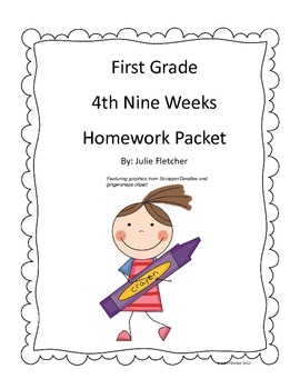 First Grade Fourth Nine Weeks Homework Packet