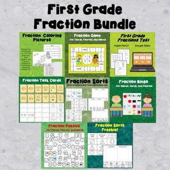 First Grade Fraction Bundle!