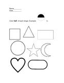 First Grade Fractions Worksheet: Color Half