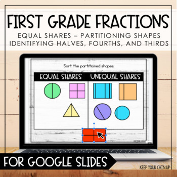 First Grade Fractions for Google Slides - Distance Learning