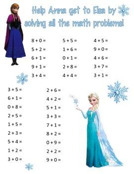 First Grade Frozen Math!