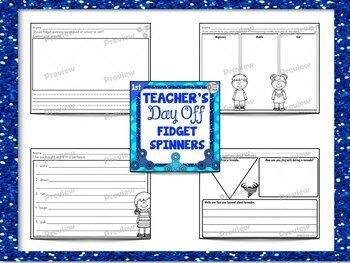 First Grade Full Day Sub Plans Fidget Spinner Theme