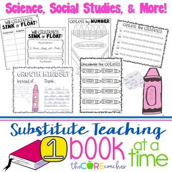 First Grade Full-day Sub Plans (ELA, Math, Science, SS, Art, PE, + more) Kit 2
