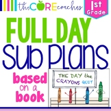 First Grade Full-day Sub Plans (ELA, Math, Science, SS, Ar