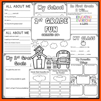 Back To School Activities First Grade