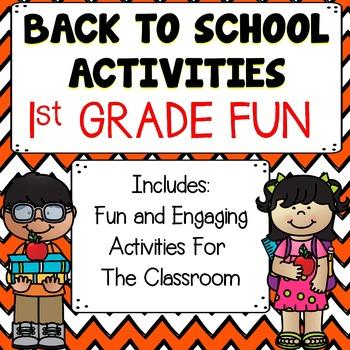 Back To School Activities {1st Grade}