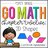 First Grade GO MATH Tabbed Booklet {Ch 12 - 2D Shapes}
