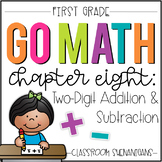 First Grade GO MATH Tabbed Booklet {Ch 8 - Two-Digit Addition and Subtraction}