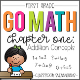 First Grade GO MATH Tabbed Booklet {Chapter 1 - Addition Concepts}