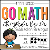 First Grade GO MATH Tabbed Booklet {Chapter 4 - Subtraction Strategies}