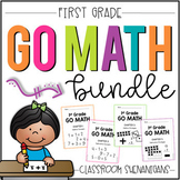 First Grade GO MATH Tabbed Booklets: The BUNDLE