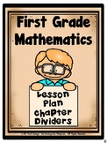 First Grade Mathematics Lesson Plan Chapter Dividers