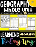 First Grade Social Studies: Learning Geography the Easy Way (ALL NEW STANDARDS!)