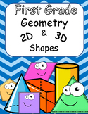 First Grade Geometry 2D and 3D shapes