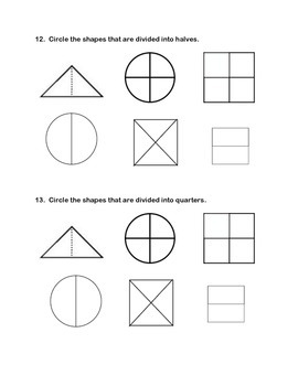 First Grade Geometry Assessment - Common Core Aligned